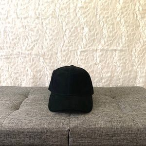NWOT H&M Black Faux Suede Dad Hat